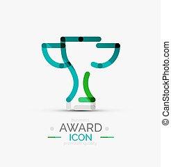 Award icon, logo. Modern business symbol, minimal outline...