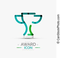 Award icon, logo. Modern business symbol, minimal outline...