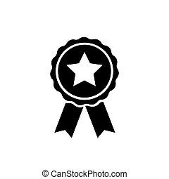 Award icon symbol vector on white