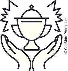 Award line icon concept. Award vector linear illustration, symbol, sign