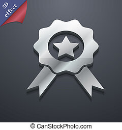 Award, Medal of Honor icon symbol. 3D style. Trendy, modern...