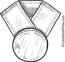 Award medal sketch