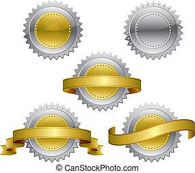 Award medals - Medallions - vector illustration