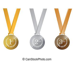 award medals. illustration design