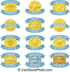 Award medals or badges