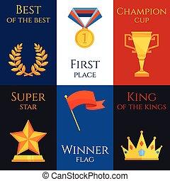Award mini poster set