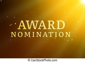 Award nomination background golden film movie vector logo ceremony poster.