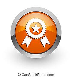 award orange glossy web icon