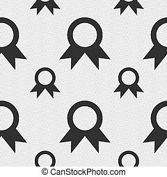 Award, Prize for winner icon sign. Seamless pattern with geometric texture. Vector