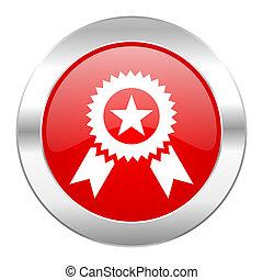 award red circle chrome web icon isolated