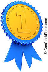 Award ribbon first place champion - Winner award ribbon...