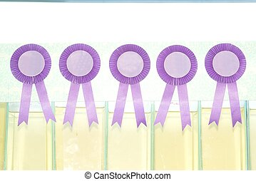 Award ribbon isolated on white background.