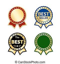 award ribbon the best - Ribbons award best price label set....