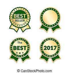 award ribbon the best seller set - Ribbon awards best seller...
