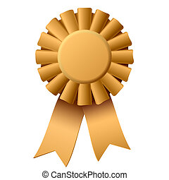 Award ribbon - Vector illustration of an award ribbon