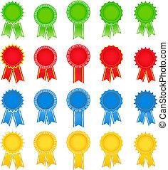 Award ribbons - Set of vector award ribbons on white ...