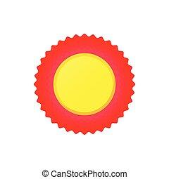 Award rosette icon,cartoon style