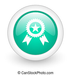award round glossy web icon on white background
