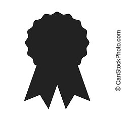 award seal medal silhouette icon
