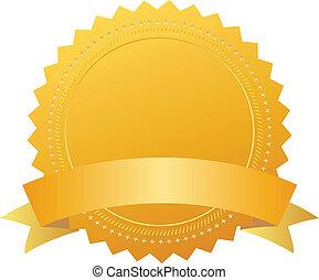 Award seal with ribbon - Blank award seal with ribbon, add...