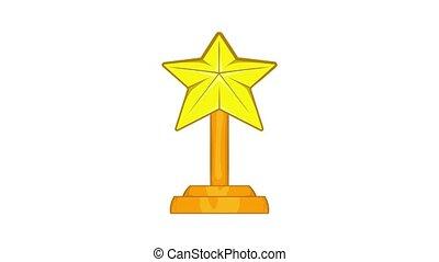 Award star icon animation