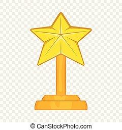Award star icon, cartoon style