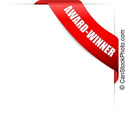 Award-winner red glossy ribbon