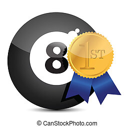 Award winning eight ball