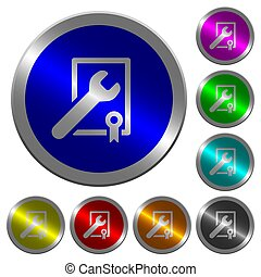 Award winning services luminous coin-like round color buttons