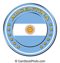 Award with the symbols of Argentina isolated on white ...
