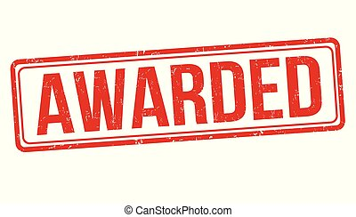 Awarded grunge rubber stamp