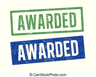 Awarded ink stamps