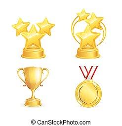 Awards Set. Vector