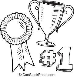 Awards sketch - Doodle style awards sketch in vector format...