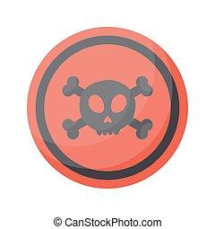 Aware sign vector flat icon, Flat design of danger alert...