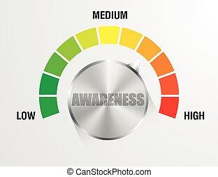 Awareness Meter Gauge - detailed illustration of an...