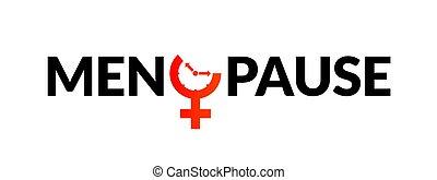 awareness., relógio, período, idade, fertilidade, menstrual, menopausa, ícone, mulher