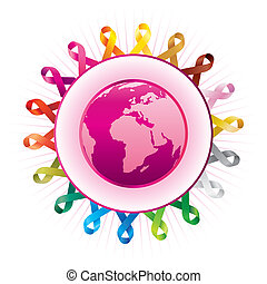awareness ribbons and - world federation of protection