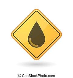 Awareness sign with  a blood drop