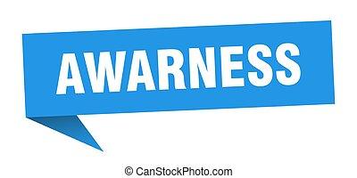 awarness banner. awarness speech bubble. awarness sign
