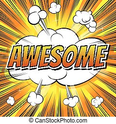 Awesome - Comic book style word