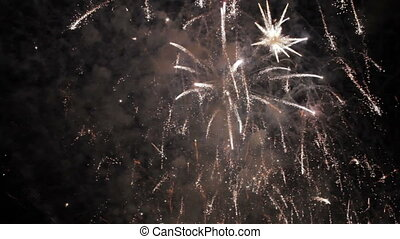 awesome fireworks with sound - colorful fireworks