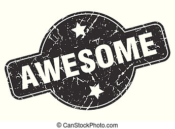 awesome round grunge isolated stamp