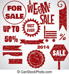 Awesome sale red objects design template