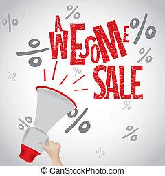 Awesome sale white red design template