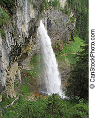 Awesome waterfall in the austrian mountains