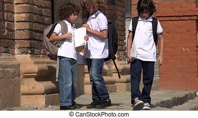 Awkward Looking School Kids