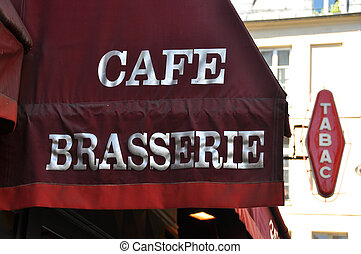 Awning of a Parisian cafe