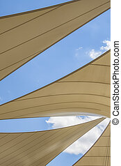 awning roof of a modern building
