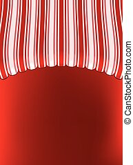 awning shop background on red